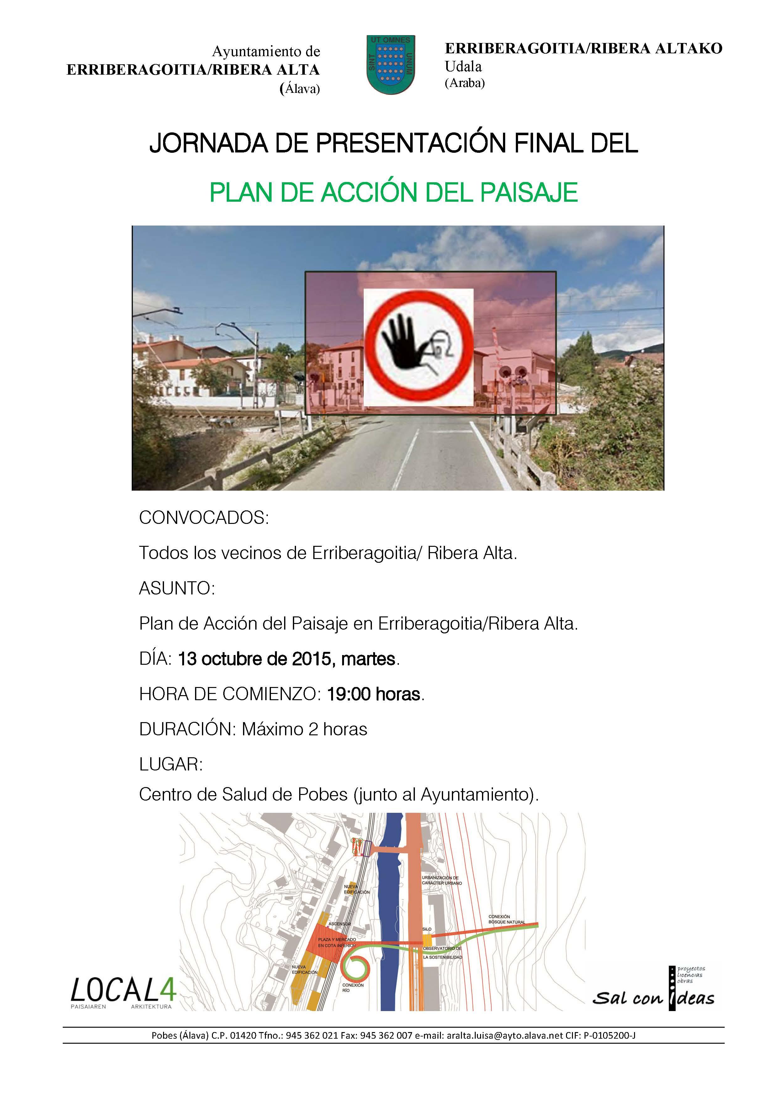 CONVOCATORIA INFORMATIVA: Resultado final del «Plan de Acción del Paisaje en Erriberagoitia/Ribera Alta»
