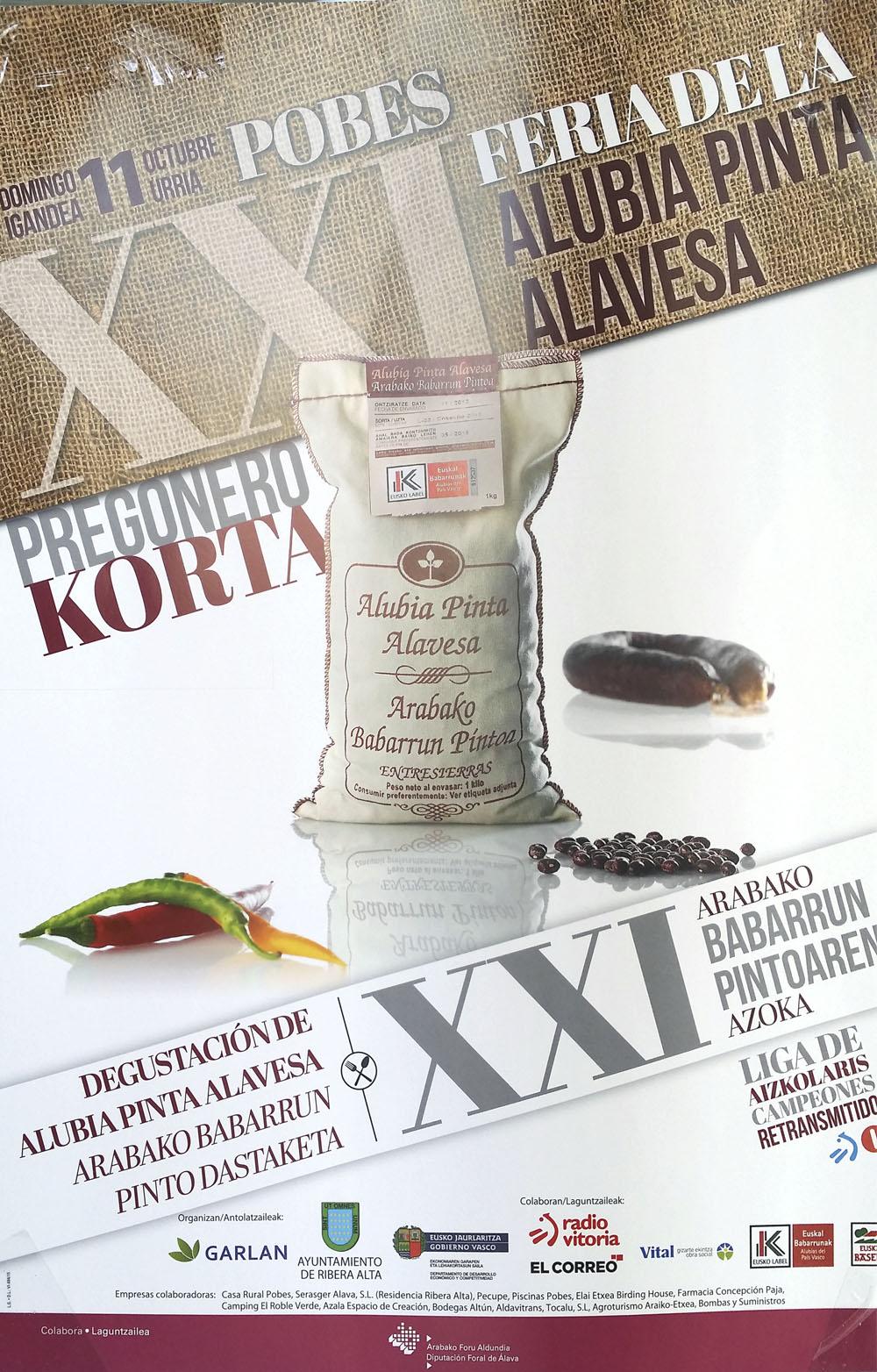 XXI Feria de la Alubia Pinta Alavesa y legumbres de Álava (Pobes)