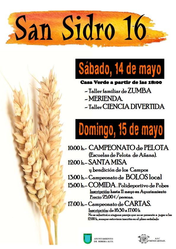 «San Isidro 2016», los días 14 y 15 de mayo