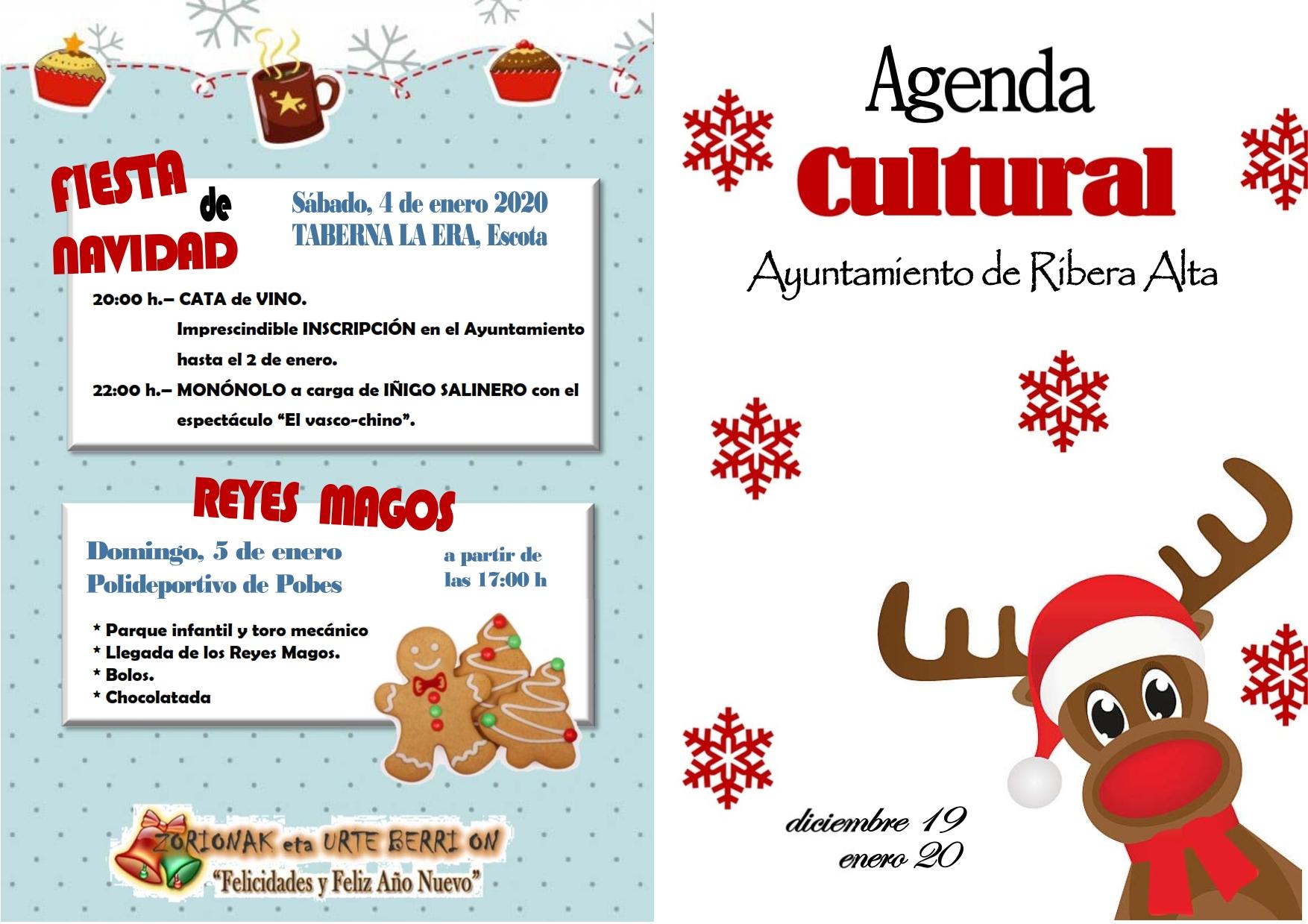 Programación navideña 2019 del Ayuntamiento de Erriberagoitia/Ribera Alta