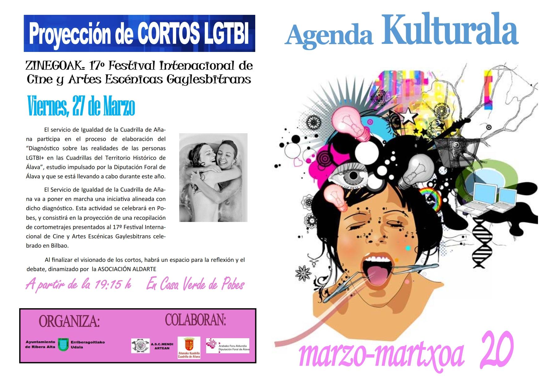 Agenda cultural marzo 2020