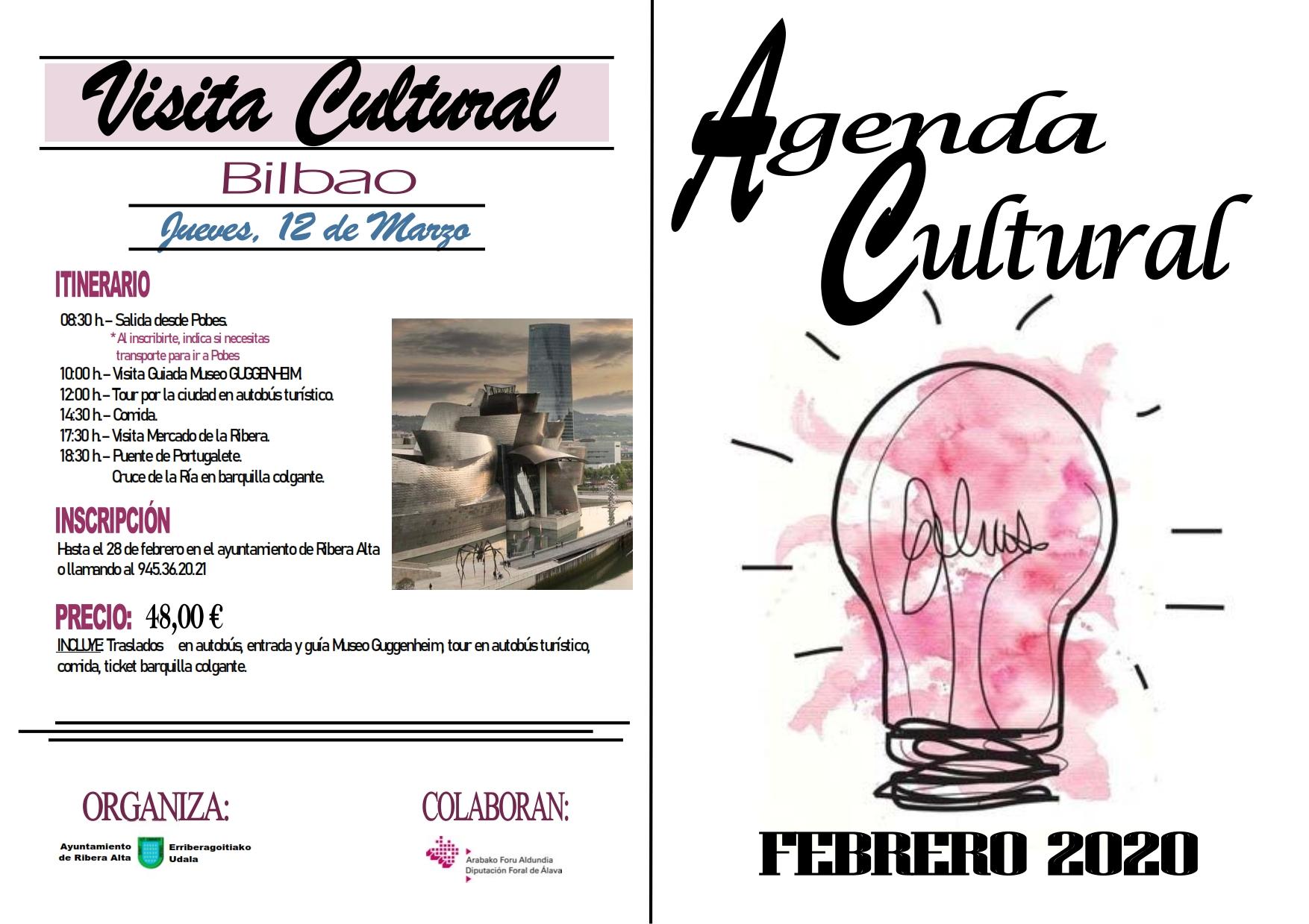 Agenda cultural febrero 2020, en Ribera alta / Erriberagoitia